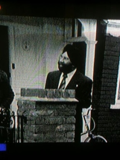 "Pictured in this screen capture of ""Equality Street,"" this Sikh gentleman has appeared in many films and television shows. (Source: Buzzfeed)"