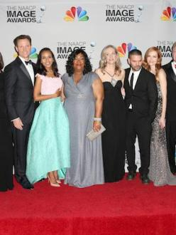"""The cast of 'Scandal' poses at the 44th NAACP Image Awards, February 2013 Photo: Frederick M. Brown/Getty Images "" (Source: Colorlines)"