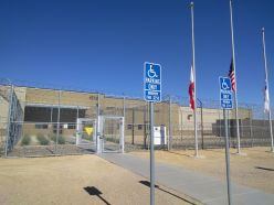 Photo of the entrance of the Imperial Regional Detention Facility in El Centro, CA.